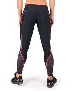 Compressie Legging Zwart Roze Carlin – Gorilla Wear-3