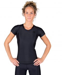 Compressie T-shirt Zwart Carlin - Gorilla Wear-1
