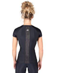 Compressie T-shirt Zwart Carlin - Gorilla Wear-2