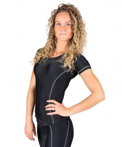 Compressie T-shirt Zwart Grijs Carlin - Gorilla Wear-3
