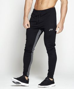 Fitness Broek Pro-Fit Tapered Zwart Grijs - Pursue Fitness-1