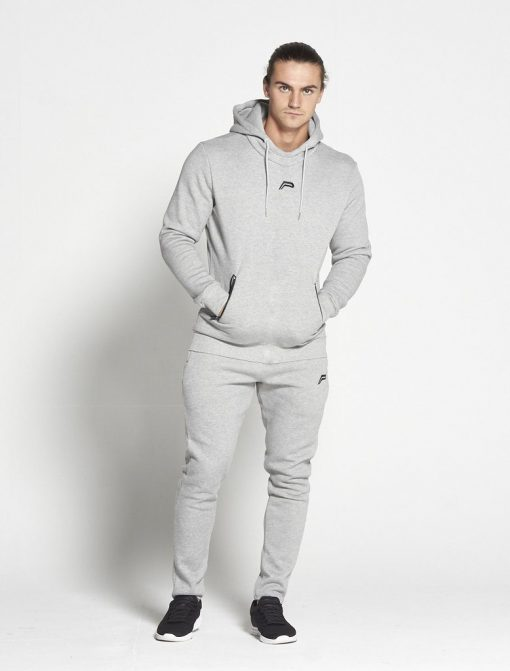 Fitness Hoodie Tapered Grijs - Pursue Fitness-1