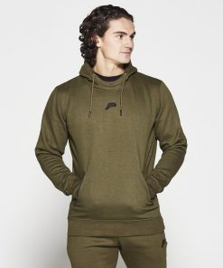 Fitness Hoodie Tapered Kaki - Pursue Fitness-1