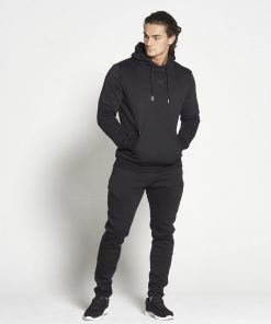 Fitness Hoodie Tapered Zwart - Pursue Fitness-1