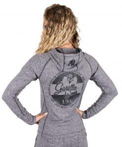 Hoodie Dames Grijs Shawnee - Gorilla Wear-2