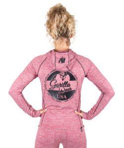 Hoodie Dames Rood Shawnee - Gorilla Wear-2