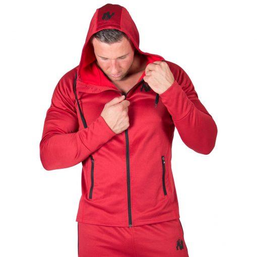 Hoodie Rood Bridgeport - Gorilla Wear-3