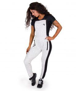 Joggingsbroek Dames Grijs Dolores Dungarees - Gorilla Wear-full-1