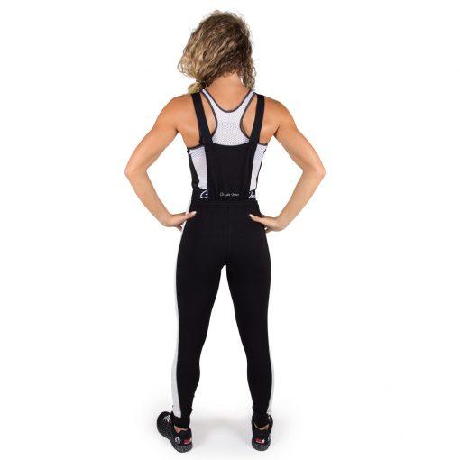 Joggingsbroek Dames Zwart Dolores Dungarees - Gorilla Wear-full-1