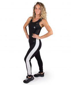 Joggingsbroek Dames Zwart Dolores Dungarees - Gorilla Wear-full-2