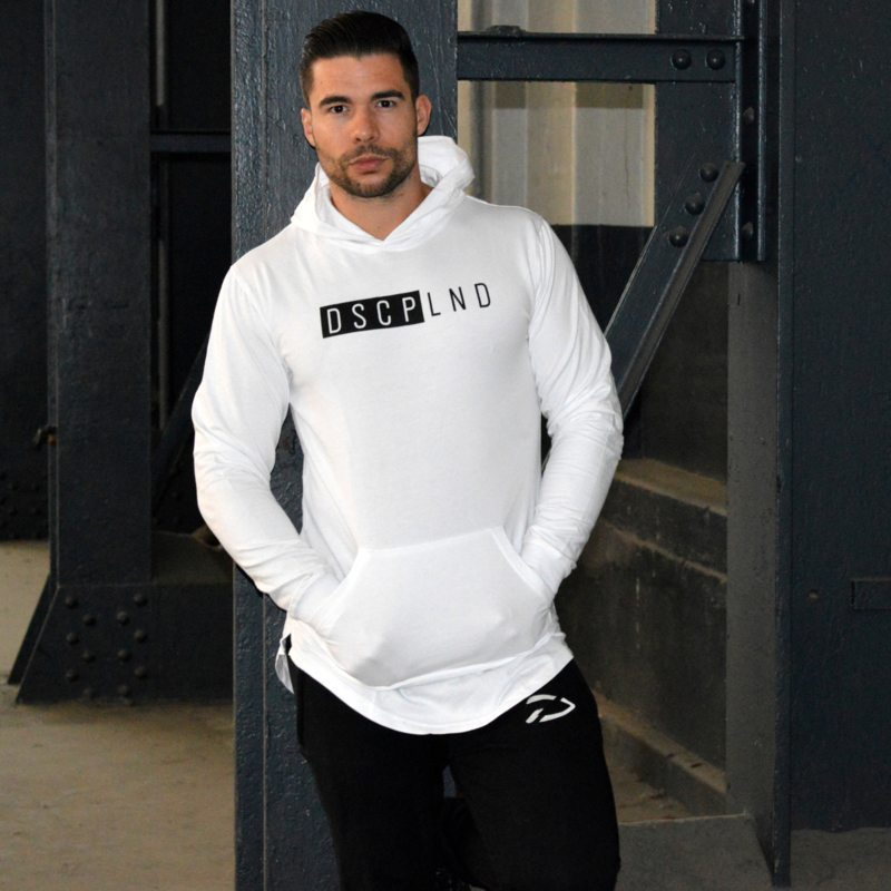 Lightweight Hoodie Wit - Disciplined Apparel