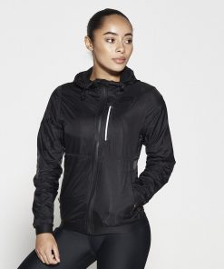 Running Jacket Zwart - Pursue Fitness-1