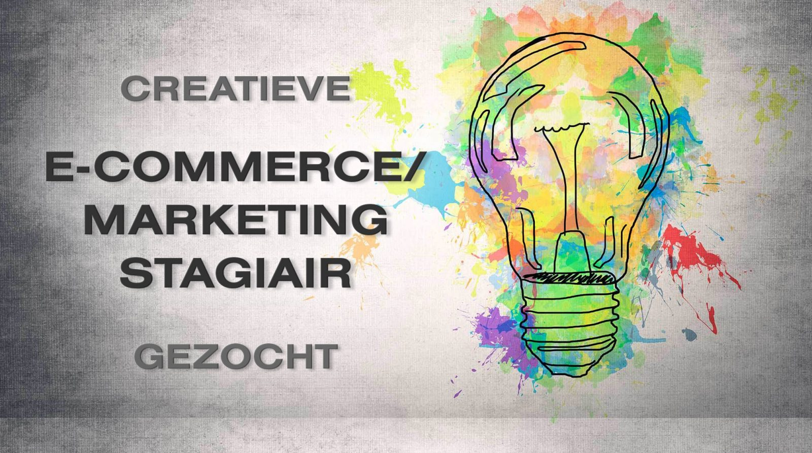 E-commerce / Marketing Stagiair gezocht