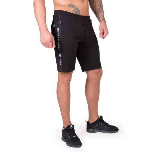 Sweatshorts Zwart Saint Thomas - Gorilla Wear-1