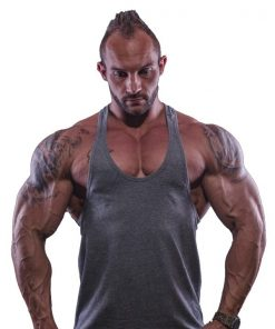 tank top typed grijs - Muscle brand 1tank top typed grijs - Muscle brand 1