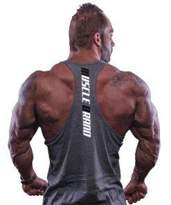 tank top typed grijs - Muscle brand 2