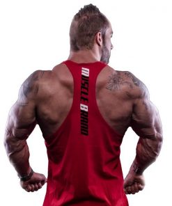 tank top typed rood 2 - Muscle brand