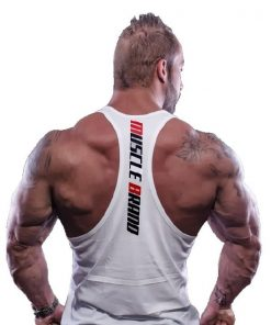 tank top typed wit 2 - Muscle brand