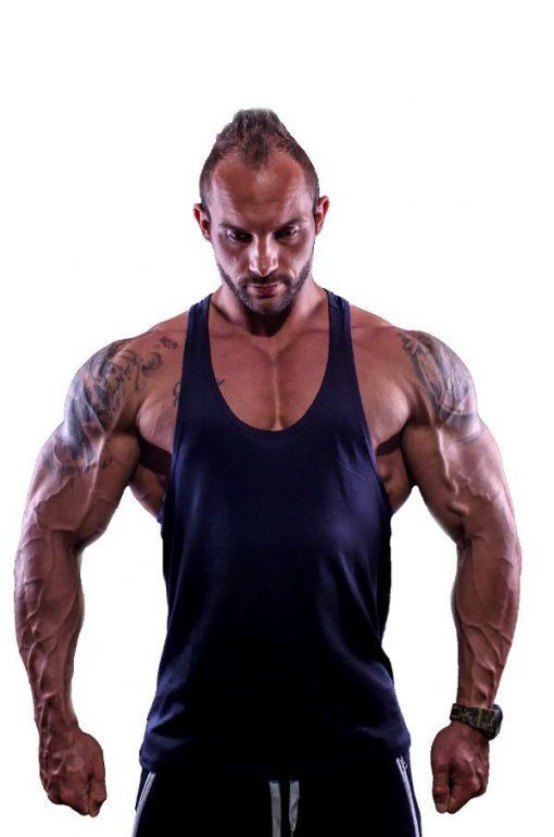 tank top typed zwart 1 - Muscle brand