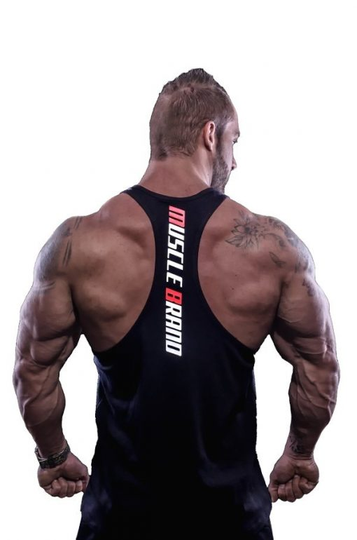tank top typed zwart 2 - Muscle brand