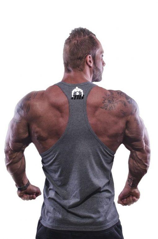 tanktop vertical grijs 2 - Muscle brand
