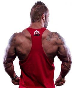 tanktop vertical rood 2 - Muscle brand