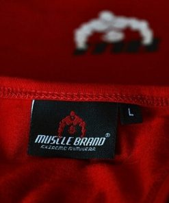 tanktop vertical rood 3 - Muscle brand