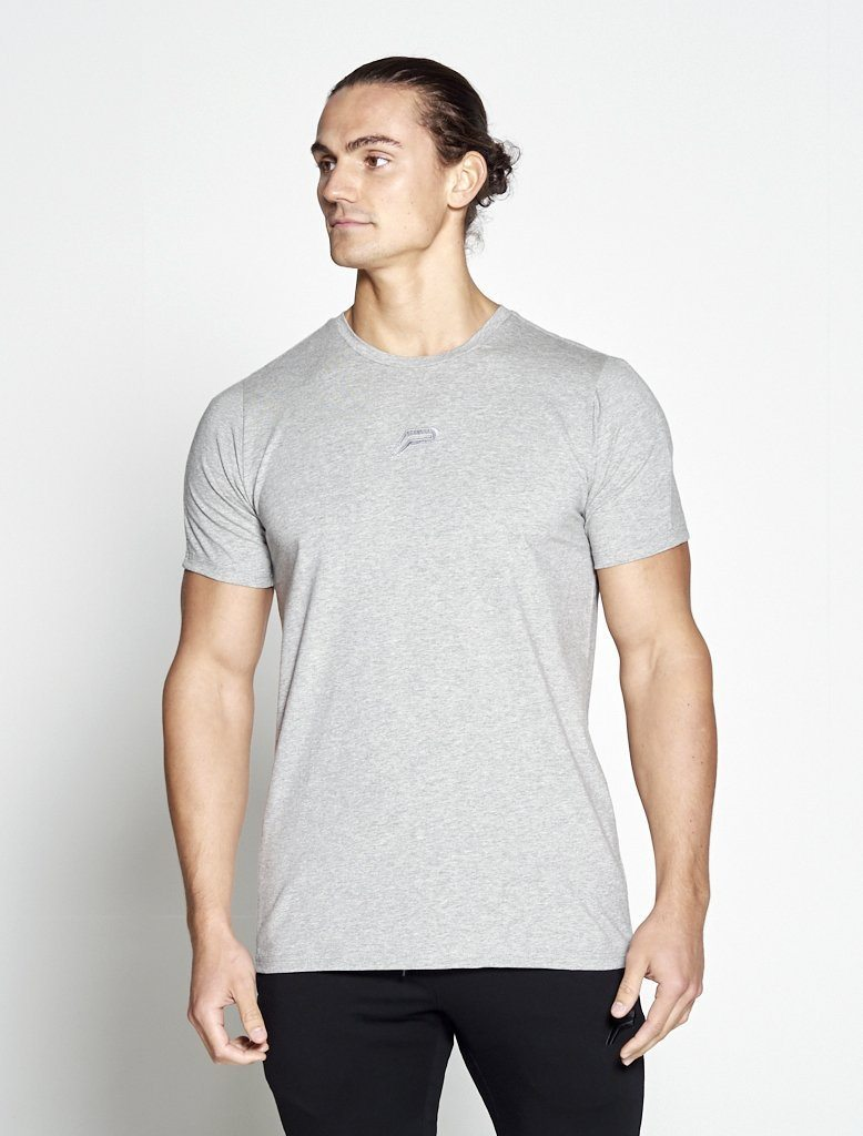 Fitness T-shirt Heren grijs - Pursue Fitness-1
