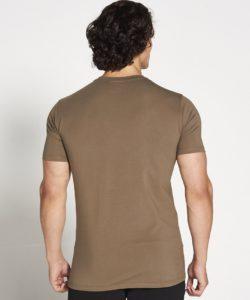 Fitness T-shirt Heren kaki stretch – Pursue Fitness-2