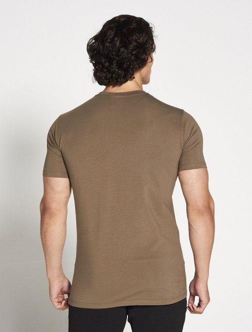 Fitness T-shirt Heren kaki stretch - Pursue Fitness-2