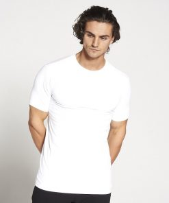 Fitness T-shirt Heren wit stretch - Pursue Fitness-1