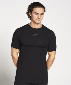 Fitness T-shirt Heren zwart stretch - Pursue Fitness-1