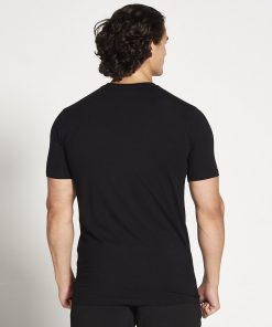 Fitness T-shirt Heren zwart stretch - Pursue Fitness-2