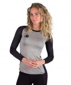 Fitness longsleeve Dames Grijs - Gorilla Wear Mineola-1
