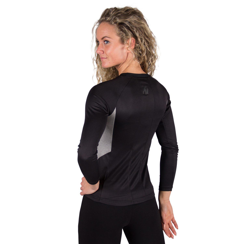 Fitness longsleeve Dames Grijs - Gorilla Wear Mineola-2