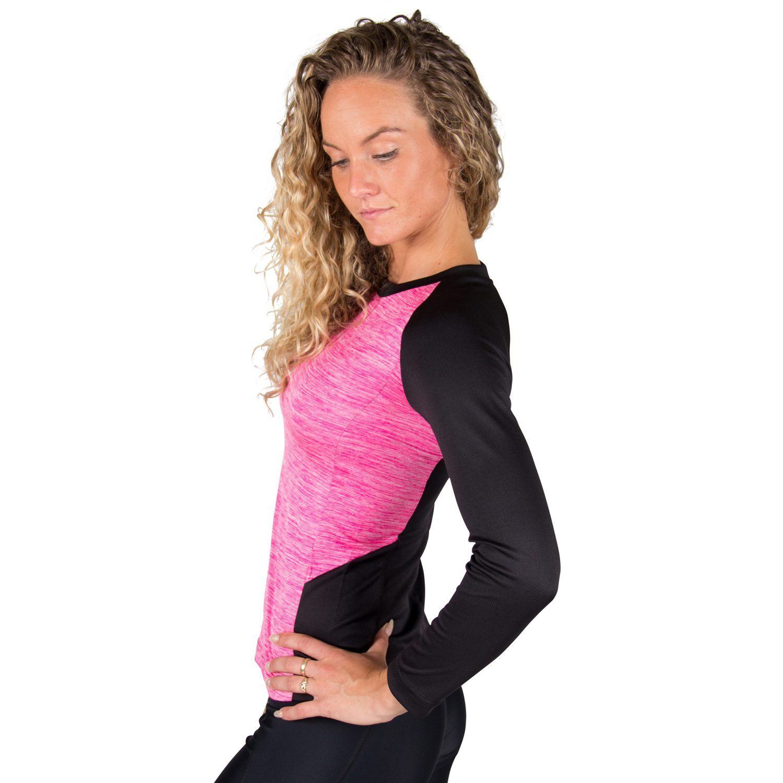 Fitness longsleeve Dames Roze - Gorilla Wear Mineola-3