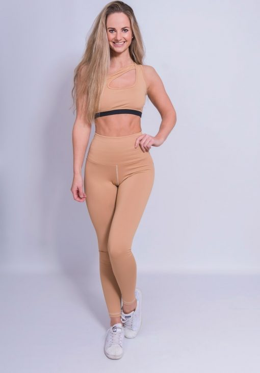High Waist Sportlegging Nude - Mfit
