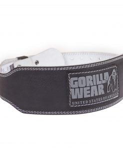 Gorilla-Wear-4-Inch-Padded-Leather-Belt-Zwart-1