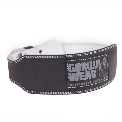 Gorilla-Wear-4-Inch-Padded-Leather-Belt-Zwart-1