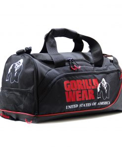 Gorilla-Wear-Jerome-Gym-Bag-Zwart-Rood-1