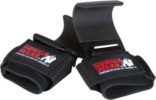Gorilla-Wear-Weight-Lifting-Hooks-Zwart