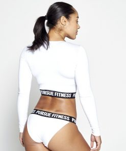 Fitness Crop Top Dames Wit - Pursue Fitness-2