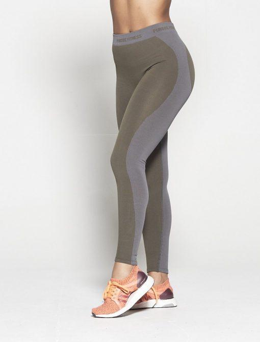 Fitness Legging Dames Kaki Seamless - Pursue Fitness-1