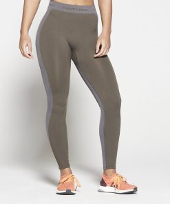 Fitness Legging Dames Kaki Seamless - Pursue Fitness-3