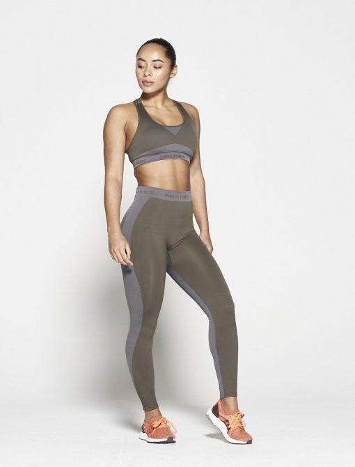 Fitness Legging Dames Kaki Seamless - Pursue Fitness-4