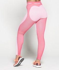 Fitness Legging Dames Roze Seamless - Pursue Fitness-3