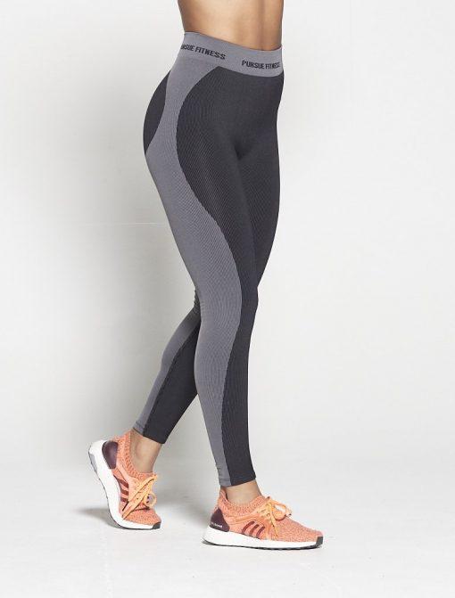 Fitness Legging Dames Zwart Seamless - Pursue Fitness-3