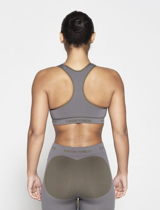 Fitness Top Dames Kaki Seamless - Pursue Fitness-2