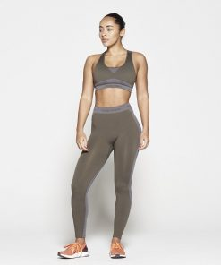 Fitness Top Dames Kaki Seamless - Pursue Fitness-3