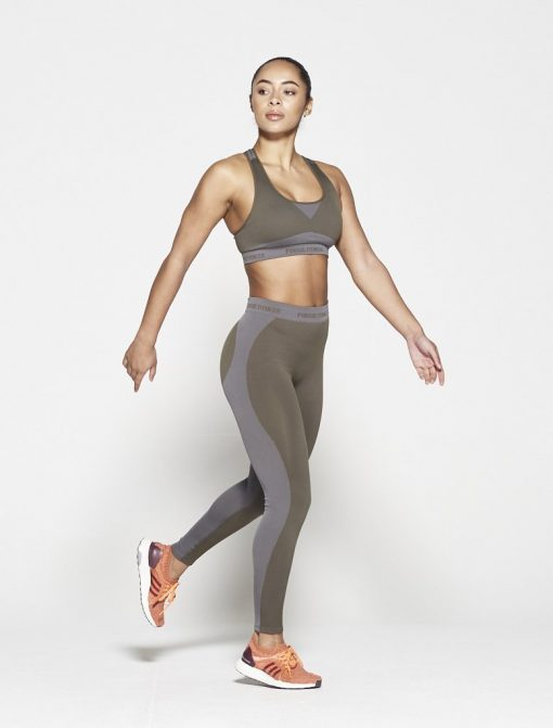 Fitness Top Dames Kaki Seamless - Pursue Fitness-4